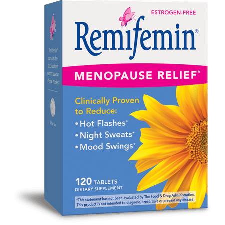 - Remifemin Estrogen-Free Menopause Relief Supplements 120 Count