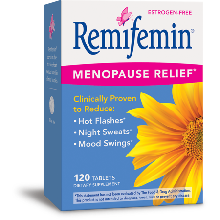 Remifemin Estrogen-Free Menopause Relief Supplements 120 Count