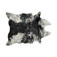 Luxe Faux Fur 676685029812 Cowhide Rug - Edingburg Salt & Pepper Black & White