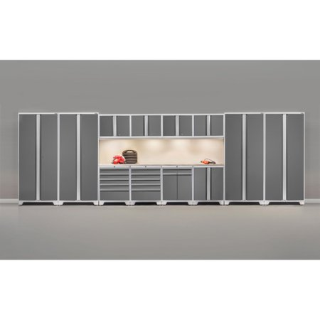 NewAge Products Pro 3.0 Platinum 12 Piece Garage Cabinet System