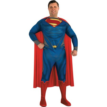 Adult Mens Plus Size 46-52 DC Comics Man of Steel Superman Full Figure Costume - Full Figure Costumes