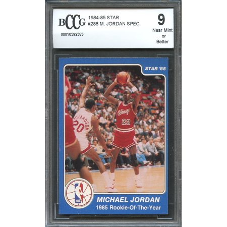 1984 85 Star 288 Michael Jordan Spec 1985 Rookie Of The Year Rookie Bgs Bccg 9