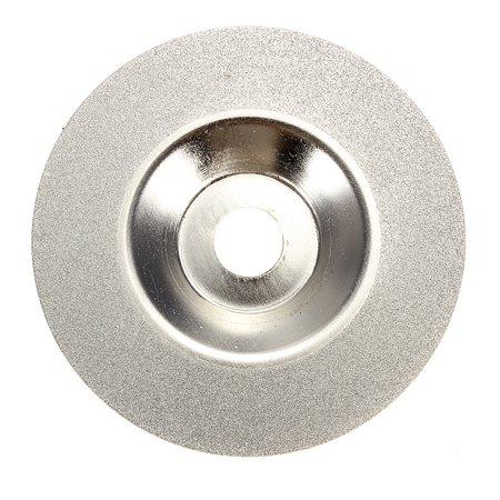 "100mm/4"" Inch Diamond Coated Grinding Polishing Grind Disc Wheel Silver Tone"