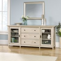 """Sauder Edge Water Credenza for TV's up to 70"""", Chalked Chestnut Finish"""