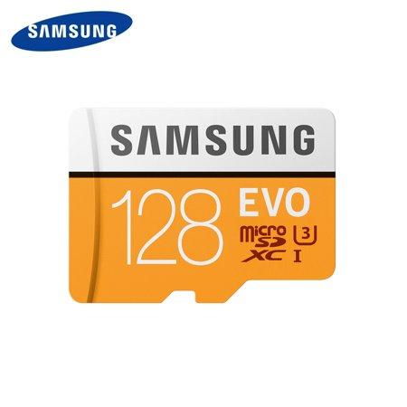 SAMSUNG EVO Microsd Card 128GB 100Mb/s Class10 U3 U1 SDXC Grade EVO Micro SD Card Memory Card TF Flash Card ()
