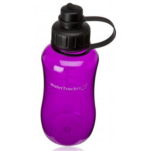Inventcor 7810PL 34 Oz Plum Hour Glass Style WaterTracker Sport Water Bottle