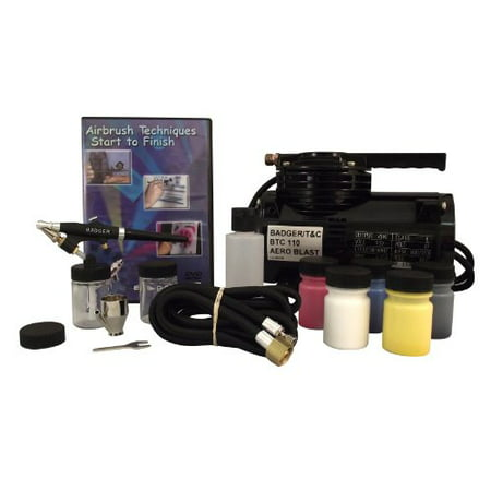 Badger Air-Brush Co. 350 Airbrush Starter Set with BTC 110 Compressor, BAD314SSWC