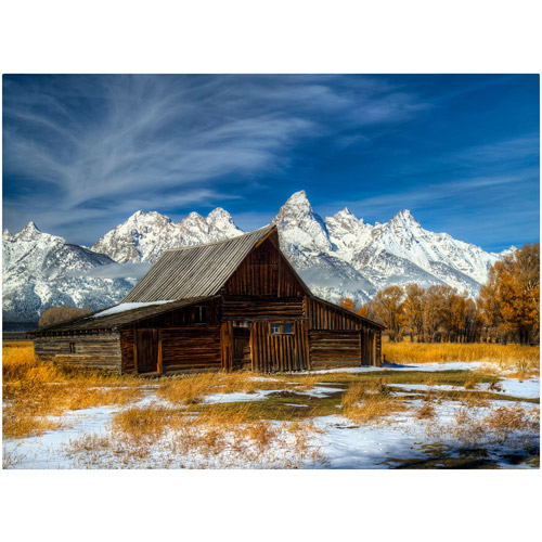 "Trademark Fine Art ""Iconic Barn Grand Teton"" Canvas Art by Pierre Leclerc"