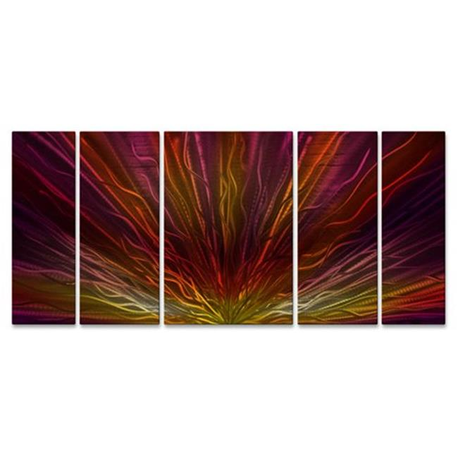 All My Walls ABS00203 Warm Sunset II Metal Wall Sculpture, Multicolor