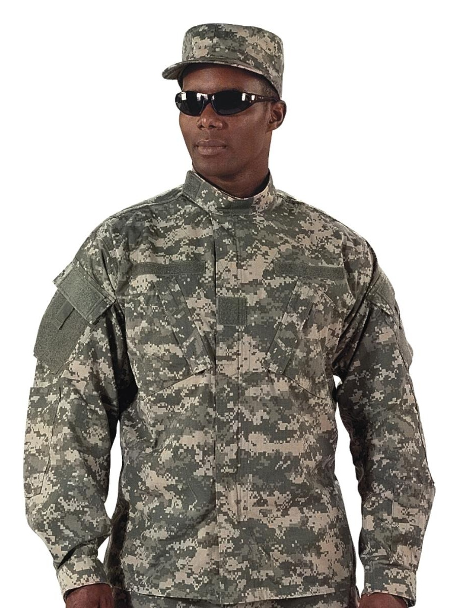 ACU Digital Camouflage Military Uniform Shirt
