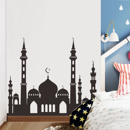Muslim Ramadan Festival Decoration Mosque Pattern Wall Sticker Decal Poster Home Decor 49.6x57cm - image 4 of 8