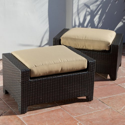 RST Outdoor Delano Club Ottoman - Set of 2