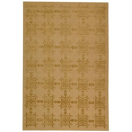 Stewart Wool (Martha Stewart  by  Tracery Pecan Silk/ Wool Rug - 5'6