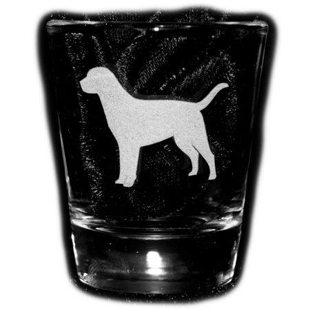 2oz Labrador Retriever dog puppy Shot Glass