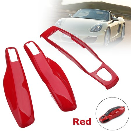 For Porsche Boxster Cayman 911 Cayenne Macan 3pcs Red Remote Key Case Cover