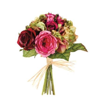 Silk Flower Depot Rose Hydrangea And Mixed Rose Bouquet