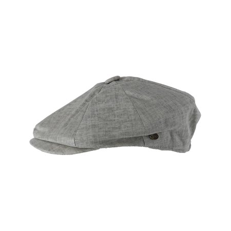 Size one size Men's Linen Newsboy Cap, - Suede Newsboy Cap