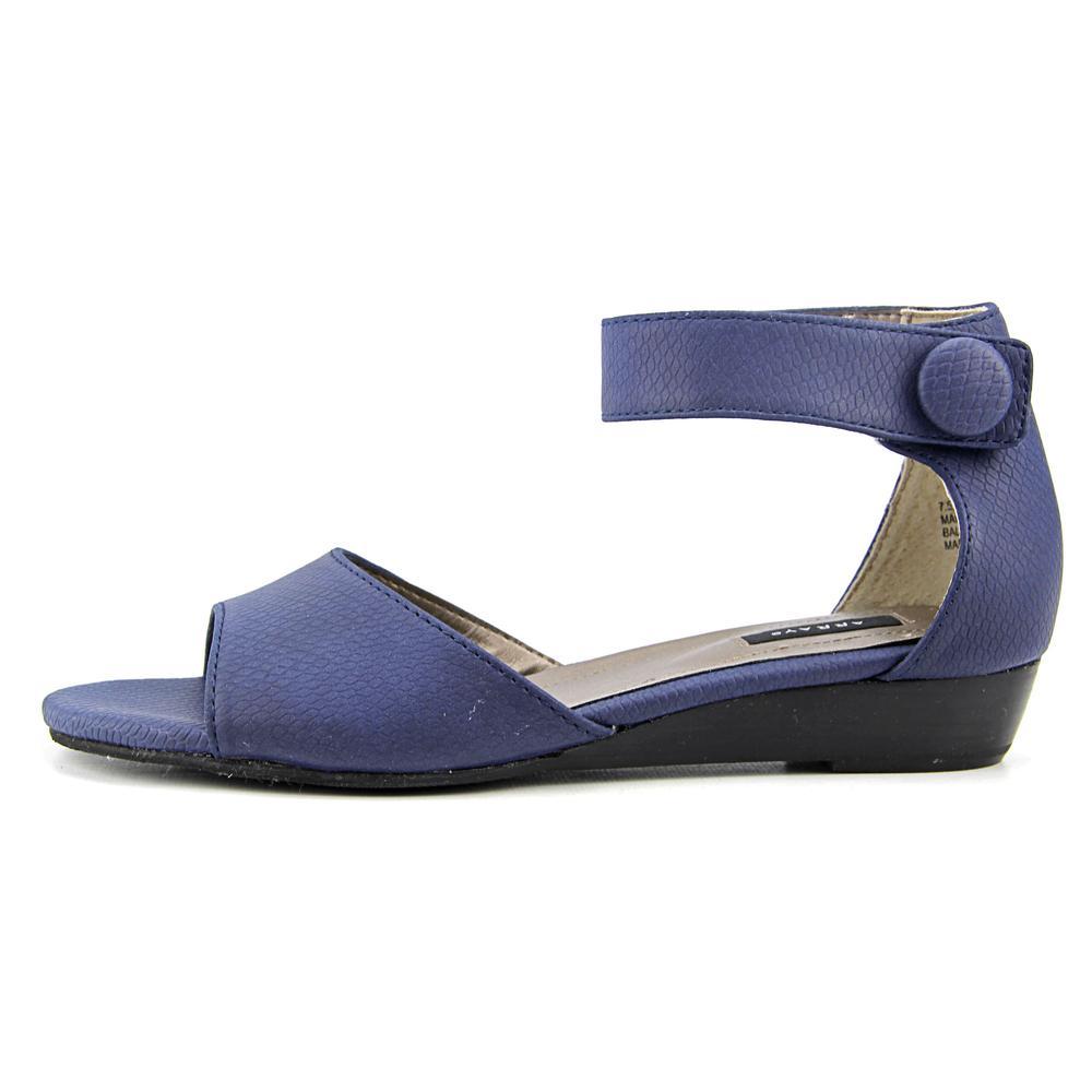 Array Havana Women  Open Toe Synthetic Blue Wedge Sandal