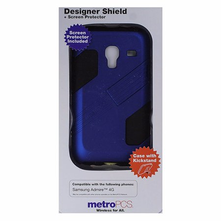 Metropcs Designer Shield Case For Samsung Admire 4G   Dark Blue