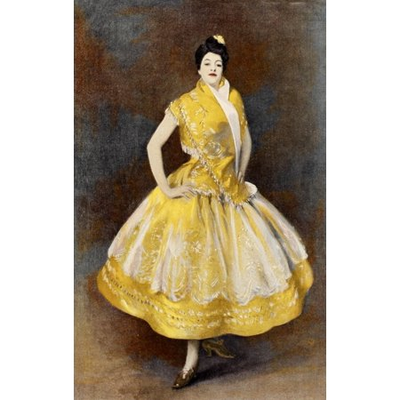Music of the Modern World 1895 Carmencita Canvas Art - John S Sargent (18 x 24)