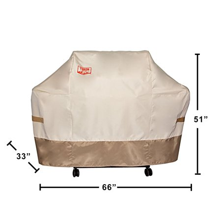 Yukon Glory 8265TB Grill Cover for Weber Summit 400-Series Gas Grills, Tan/Brown ()