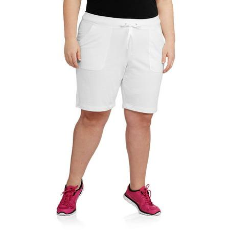 157808f35f Danskin Now - Women's Plus-Size Active 9 Bermuda Short - Walmart.com