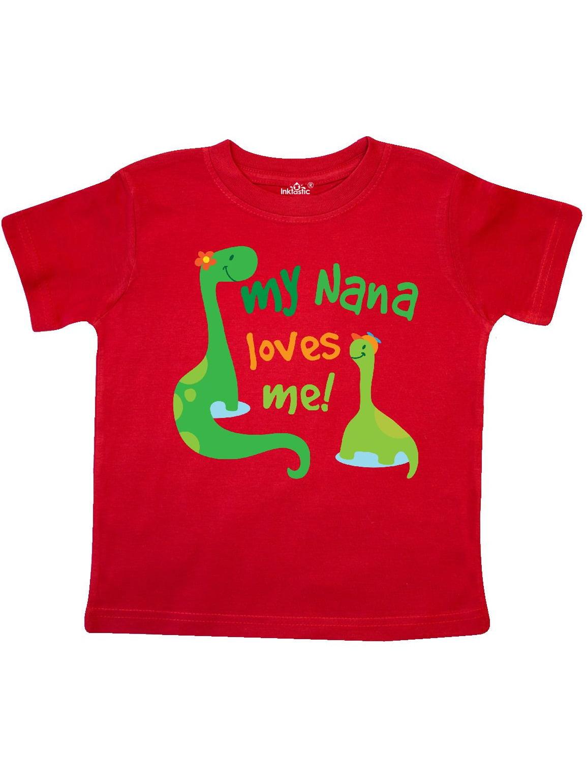 My Nana Loves Me Grandson Gift Toddler T-Shirt