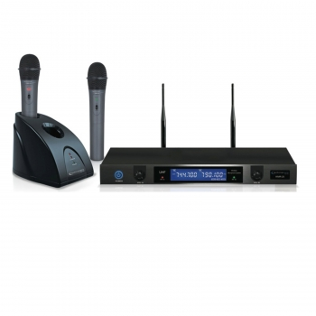 Technical Pro wmr20 Professional UHF Dual Rechargeable Wireless Microphone System by Technical Pro