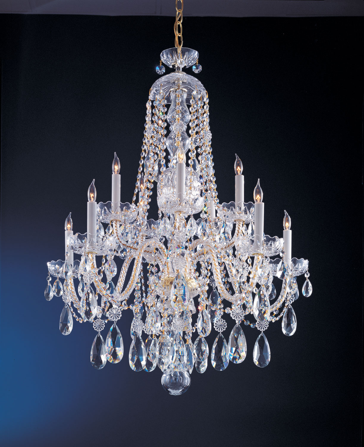 Crystorama 1110-PB-CL-S Five Light Chandeliers by Crystorama