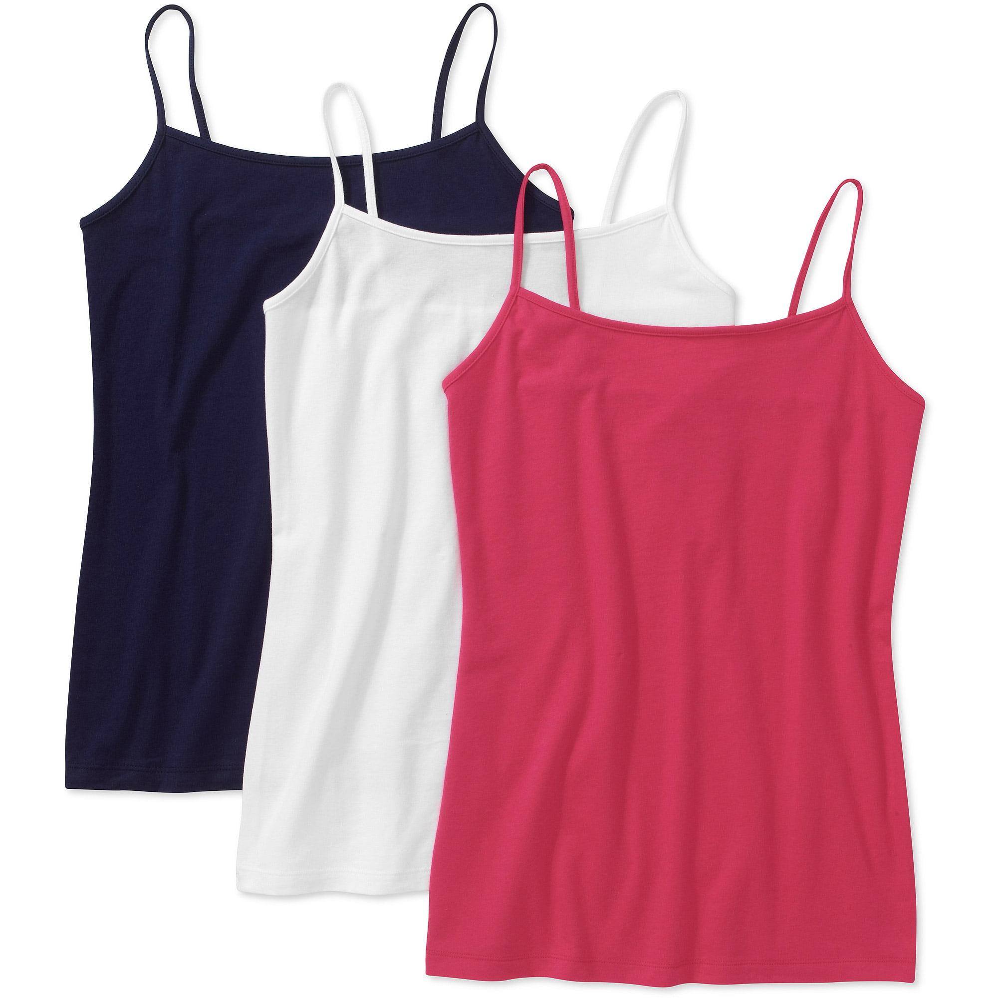 daa4d46efd5a9 Faded Glory - Faded Glory Women s Knit Cami 3 Pack - Walmart.com