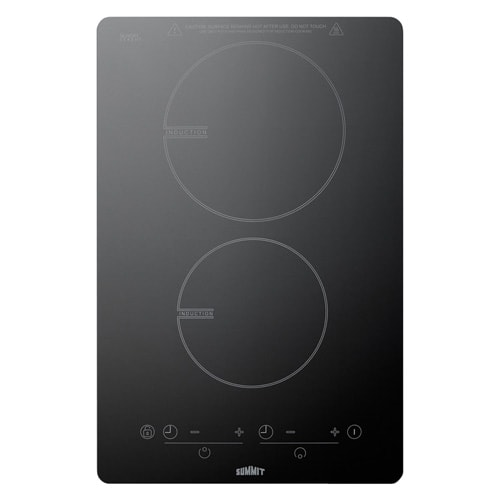 Summit SINC2B120 120V 2-Burner Induction Cooktop with 7 P...