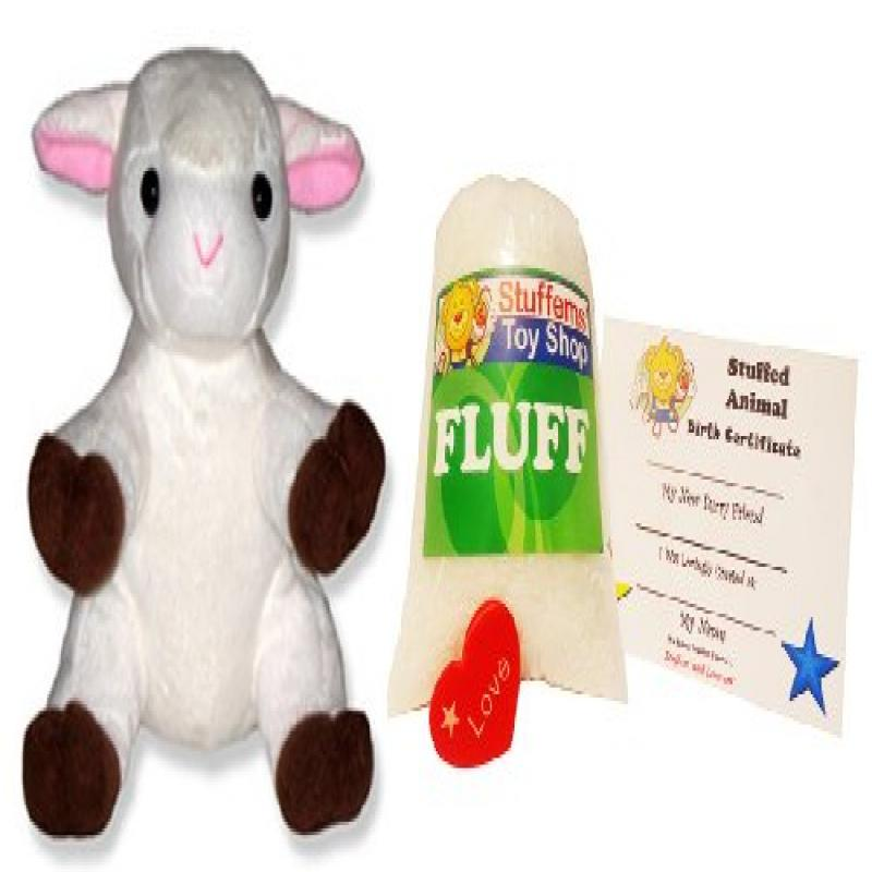 Make Your Own Stuffed Animal Mini 8 Inch Cute White Lamb Kit No