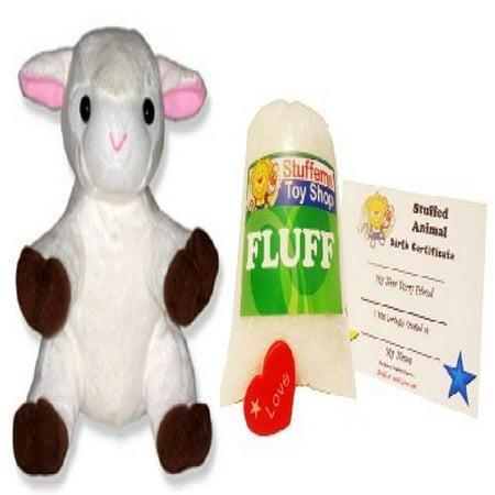 Make Your Own Stuffed Animal Mini 8 Inch Cute White Lamb Kit No