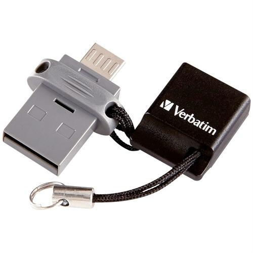Verbatim 99140 Store 'n' Go Dual USB Flash Drive for OTG Devices, 64GB
