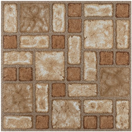 Vinyl Floor Tiles Wood & Marble Look 2.0mm Extra Thick and Highly Durable Sticky Floor