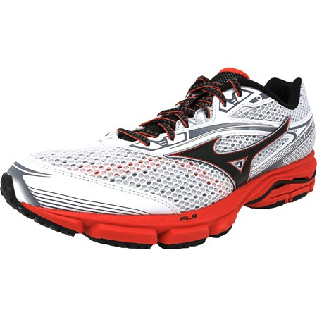 check out ce786 af8a7 Mizuno Men s Wave Legend 3 White   Black Red Ankle-High Running Shoe ...