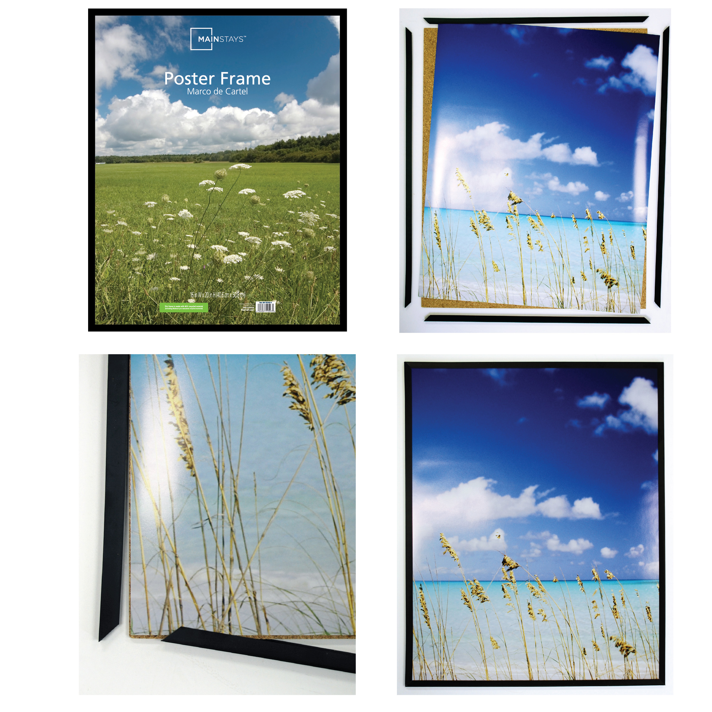Mainstays 24x36 Thin Poster and Picture Frame, Black - Walmart.com