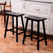 UBesGoo Pine Wood Saddle-seat Counter Stool,Bar Stools Dining Stools