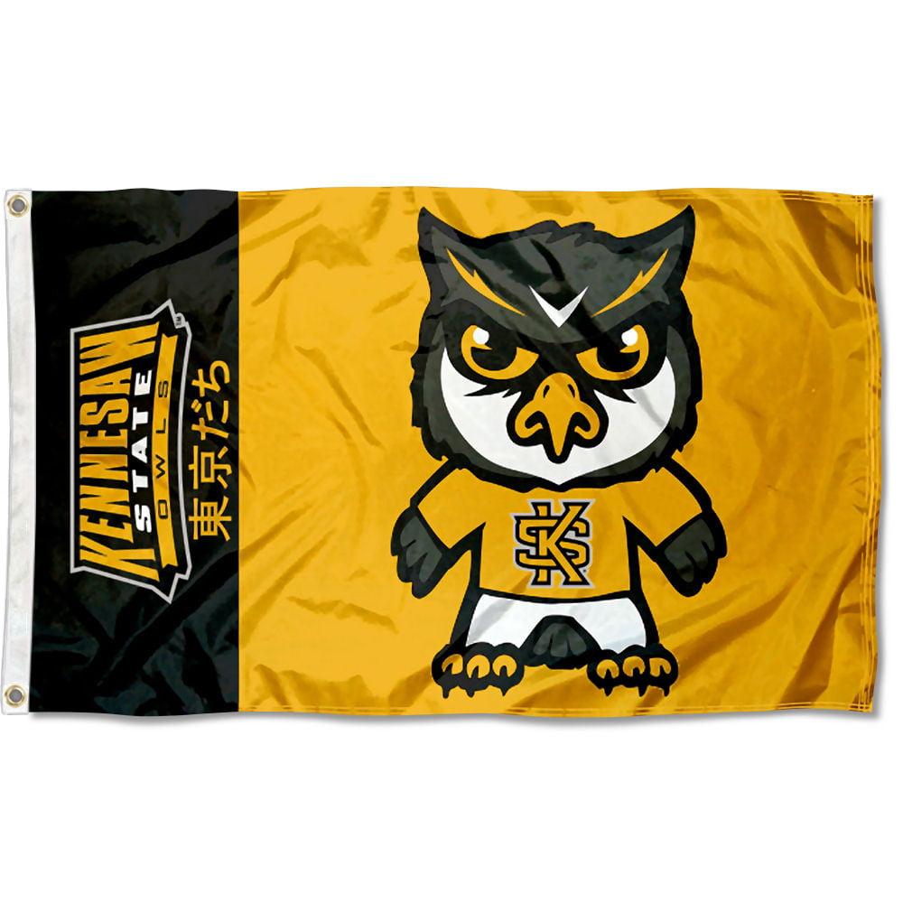 Kennesaw State University Owls Kawaii Tokyodachi Mascot Flag