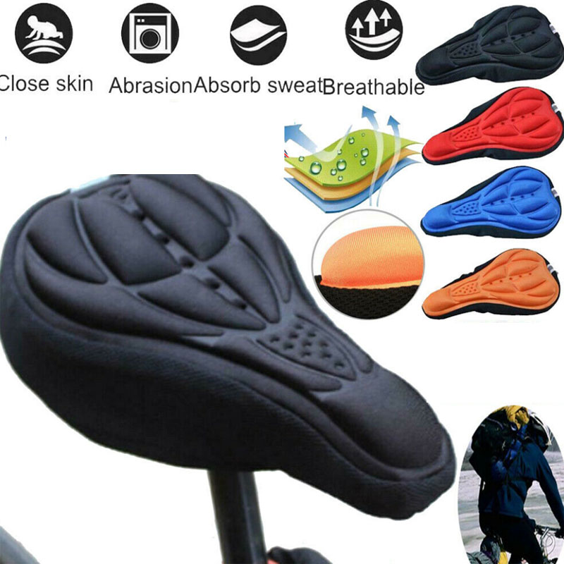 Silicone 3D Gel Saddle Bike Bicycle Seat Cover Extra Comfort Gel Pad Cushion