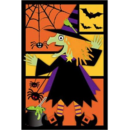 G128 - Halloween Garden Flag, Witch, Bats, and Spiders Garden Yard Decorations, Rustic Holiday Seasonal Outdoor Flag 12