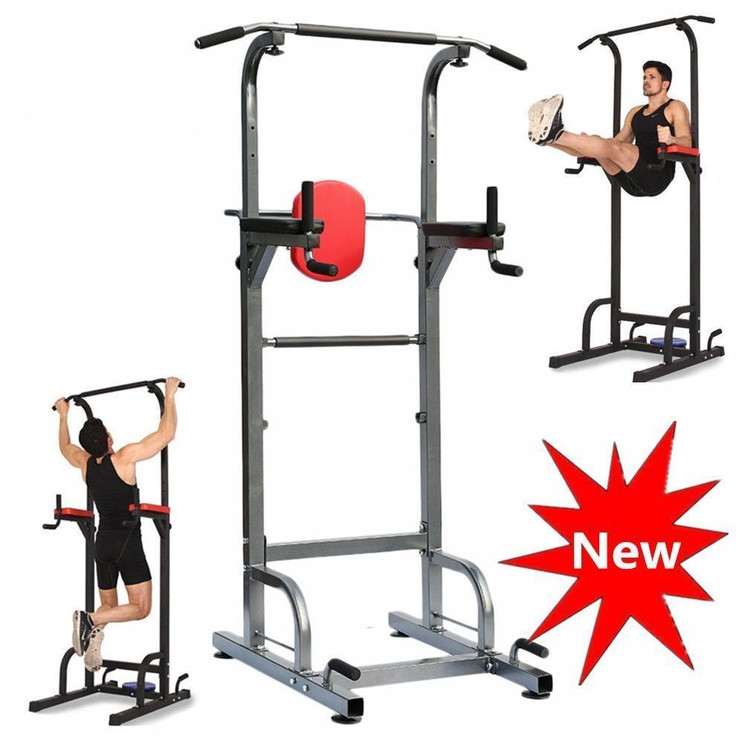 Pull Up Stand Full Body Gym Power Tower Exercise Equipment Adjustable Fitness Workout Station Home