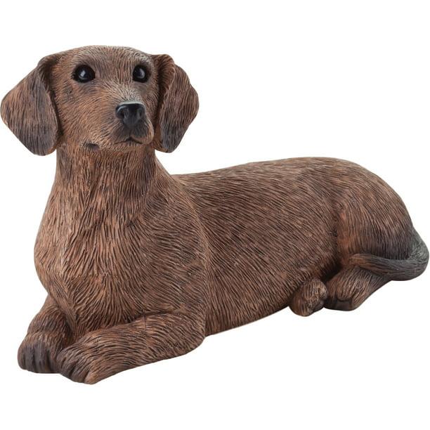 Sandicast Small Size Lying Red Dachshund Dog Sculpture Walmart Com