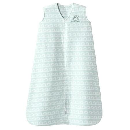 HALO SleepSack Wearable Blanket, Micro-Fleece - Sleeveless Grey Wave Design - Baby Boy or (Fleece Sleepsack Wearable Blanket)