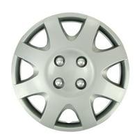 Fit Saturn Wheels Rim Cover 4pcs Hub Cap 4 Chrome Lug Trim Skin  Complete Set For Ion SC SC1 SC2 SL SL1 SL2 SW1 SW2 1991