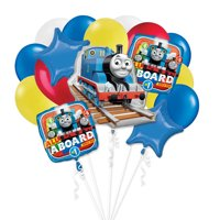 Thomas the Tank Engine All Aboard Birthday Boy 16 PC Party Gift Balloon Bouquet