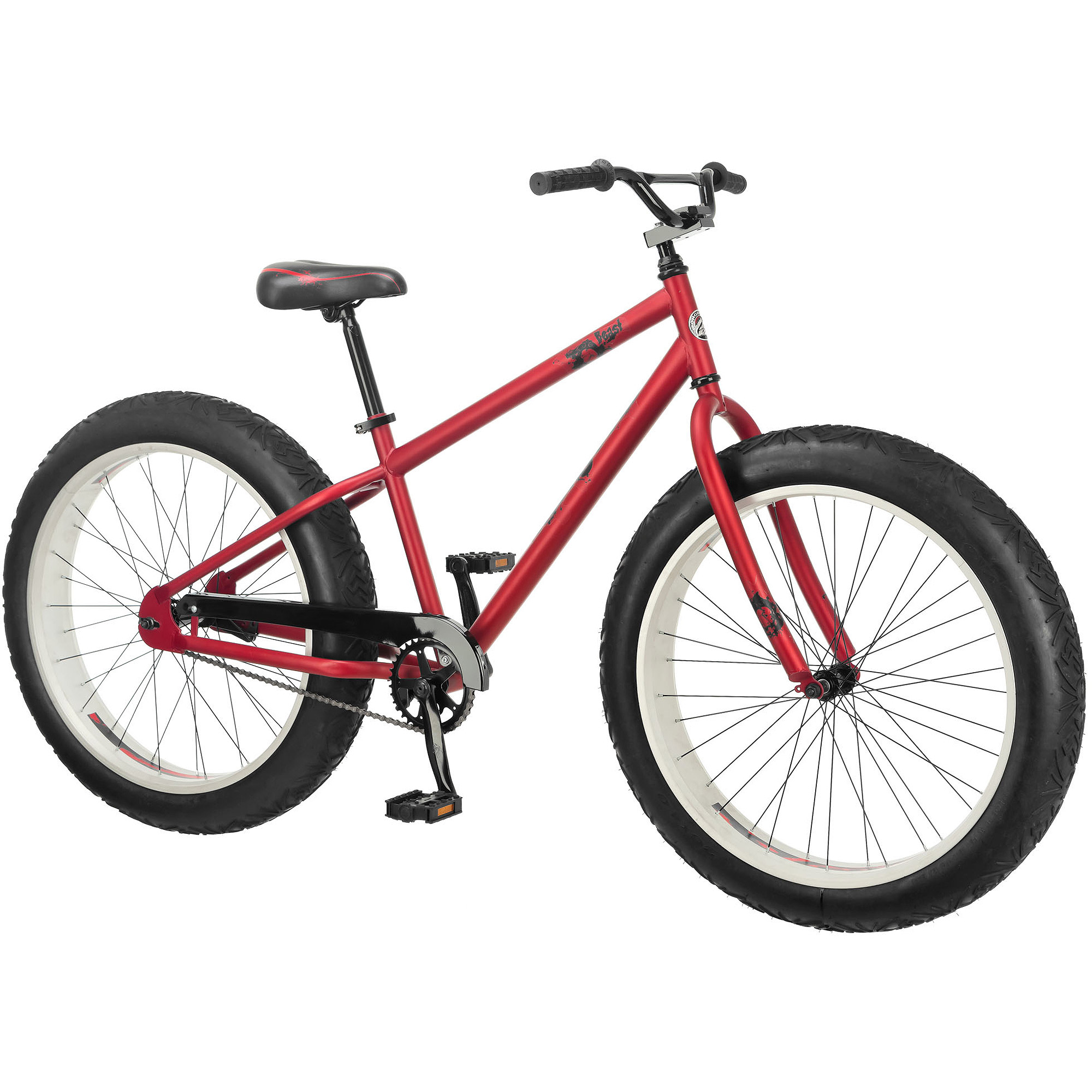 "26"" Mongoose Beast Men's All-Terrain Fat Tire Mountain, Multiple Colors"