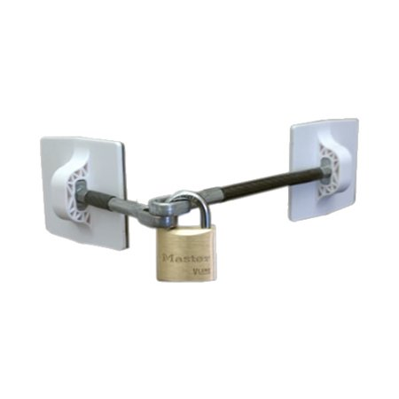 Refrigerator Door Lock with Padlock - White - Walmart.com