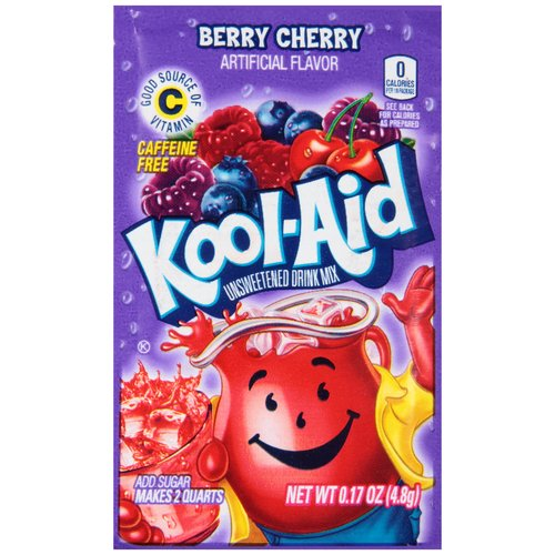 Kool-Aid Berry Cherry Unsweetened Drink Mix, 0.17 oz