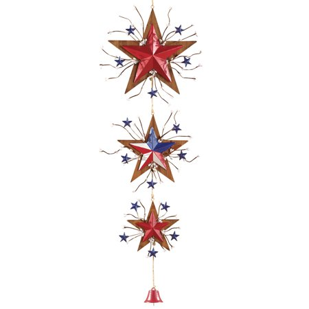 Cheap Patriotic Decorations (Collections Etc Patriotic Hanging Stars Rustic 4th of July Door)